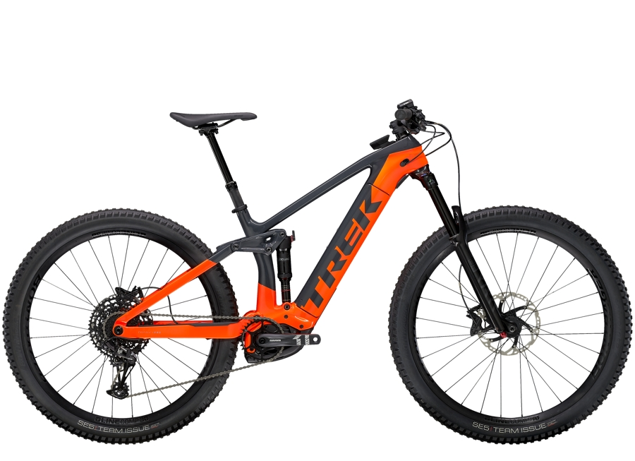 Trek Rail 9.7 M Solid Charcoal/Radioactive Orange
